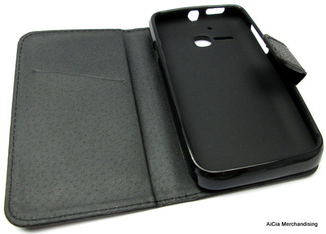 the latest f7af7 8a33c Alcatel One Touch Inspire 2 Mpop Soleil 5020 5020D Leather Flip Case – Black