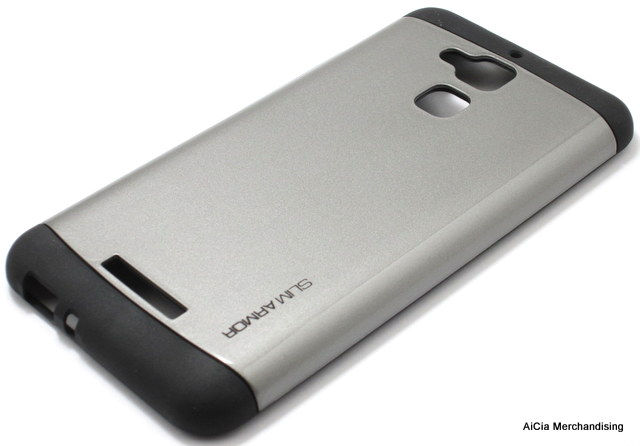 Asus Zenfone 3 Max ZC520TL Metallic Finish Hybrid Armor Case Gray