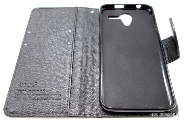 brand new 3a787 a6bac Cherry Mobile Flare 4 Wallet Type Leather Case – Black