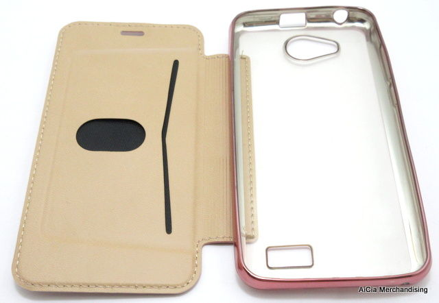best sneakers 685ab a56e3 Cherry Mobile Flare S5 Mini Clear Back Leather Case – Rose Gold