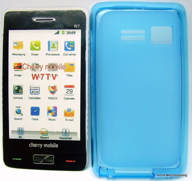 Cherry Mobile W7 TV Gel Skin Case – Blue