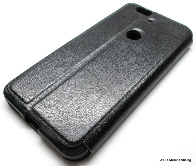 buy online fea42 5e238 Huawei Nexus 6P Standable Leather Case with Front Preview – Black