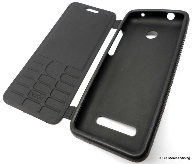 watch 8f7ab 9465f Nokia 206 Rubberized Case with Flip Cover – Black