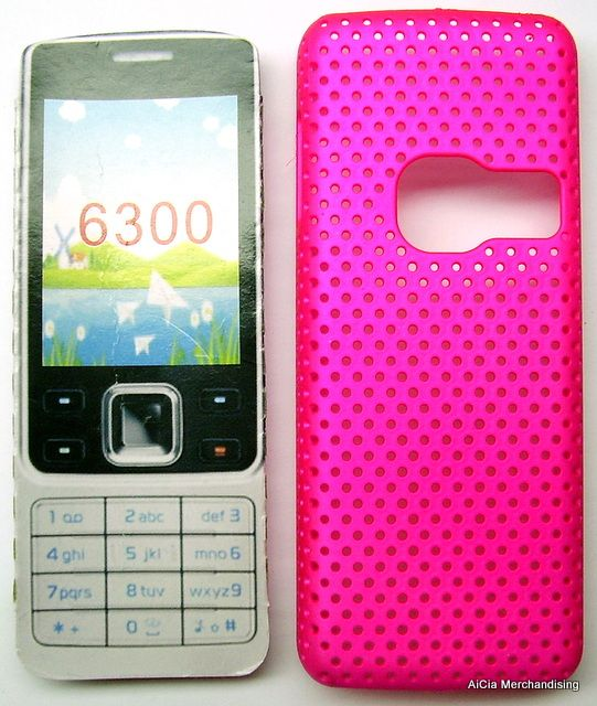 meet ca5c0 2a85e Nokia 6300 Hard Net Case – Hot Pink
