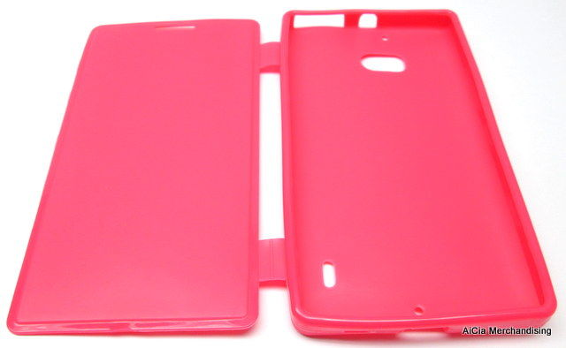 best website f0cd9 3f808 Nokia Lumia 930 Rubberized Case with Flip Cover – Pink