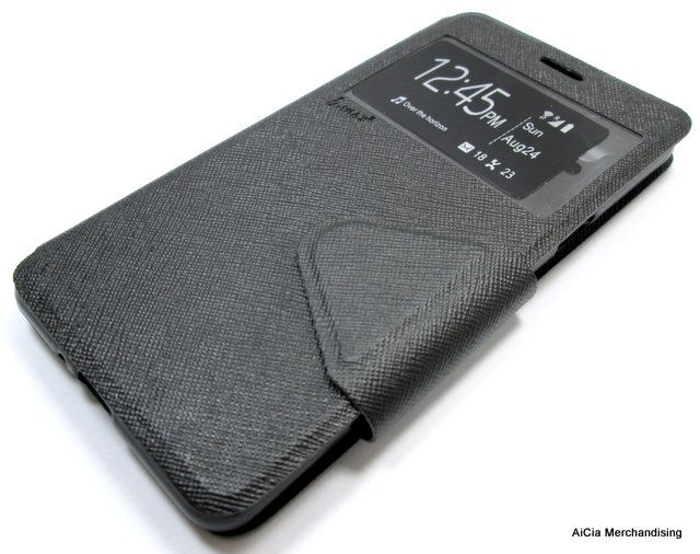 promo code 45d24 337d2 Oppo A35 or F1 Standable Leather Case with Front Preview – Black