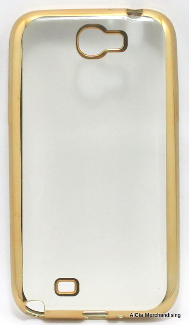 wholesale dealer ebadf a370d Samsung Galaxy Note 2 N7100 Clear Softjacket Case – Gold